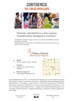 Conferencia de Carlos Magallanes, PhD. en Ciencias del Deporte