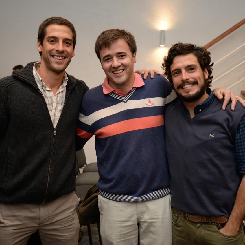 Mateo Gamarra, Sebastian Irazabal y Agustin Zafaroni
