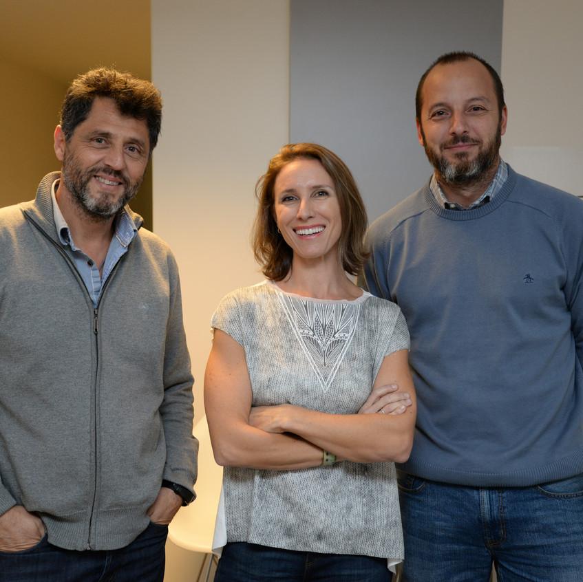 Gustavo Ipar, Luciana Gioscia y Augusto Ricciardi