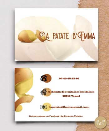 Carte de visite pour La Patate d'Emma