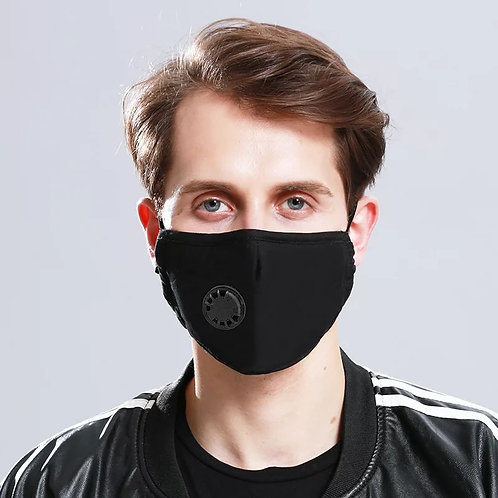 1 Black Washable KN95 Respirator Face Mask (Unisex)