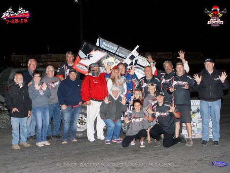 Andy Forsberg and F&F Racing Park in PitStopUSA Shootout Victory Lane