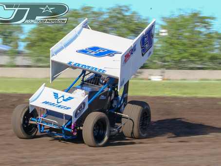 Bad Luck Bites Cody Lamar with Sprint Car Challenge Tour at Stockton Dirt Track