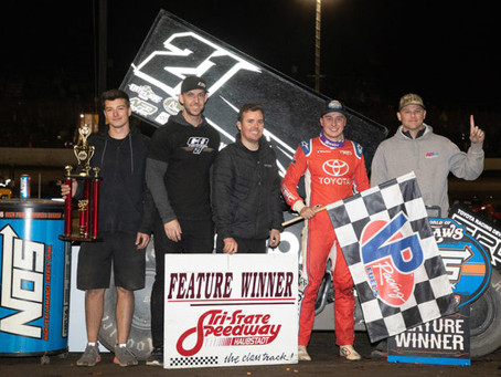 Christopher Bell Returns to World of Outlaws Victory Lane with KSE Racing Products