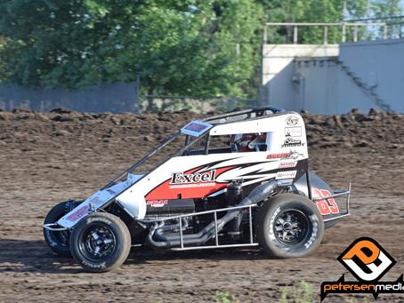 Austin Liggett Second at Stockton Dirt Track with BCRA/POWRi Series