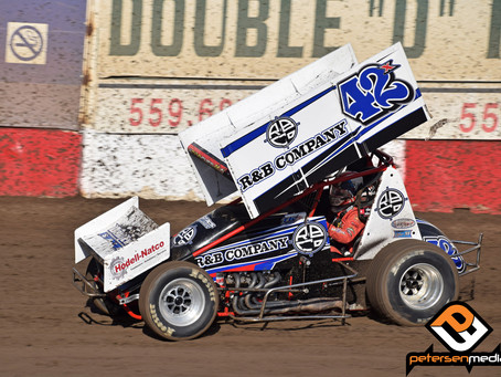 Justyn Cox Charges To 2nd at Stockton Dirt Track and Helps Guide Bates Motorsports To SCCT Owners Ch