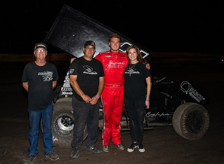 Cole Macedo Charges From 13th to Win at Marysville Raceway