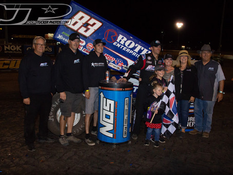 Daryn Pittman and Roth Motorsports To Return to World of Outlaws NOS Energy Drink Sprint Car Series