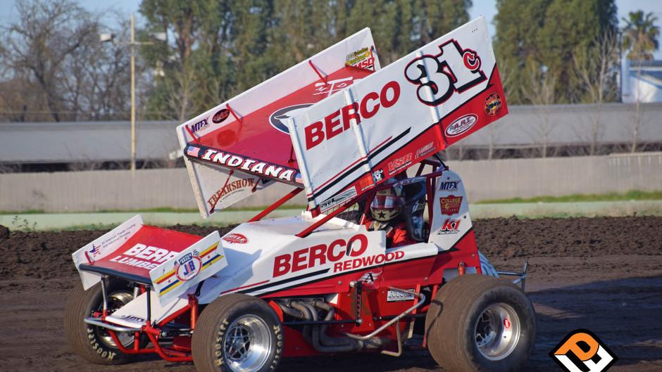Justyn Cox Second at Stockton Dirt Track