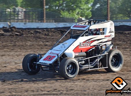 Austin Liggett Fourth at Petaluma Speedway with USAC Western States Midgets