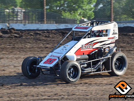 Austin Liggett Fourth at Petaluma Speedway with USAC Western States Midgets