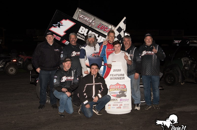 Andy Forsberg Takes Top Honors with Lucas Oil ASCS National Tour