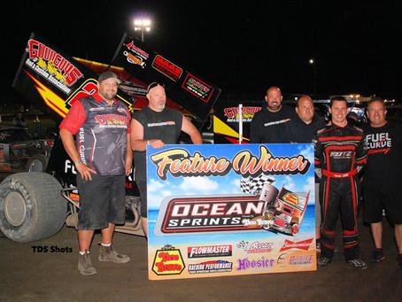 Cory Eliason Wins Kaeding Classic Warm Up at Ocean Speedway Friday Night