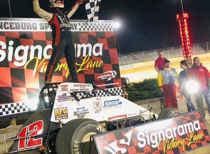 Ballou Powers to First Win of Season at 'The Burg'