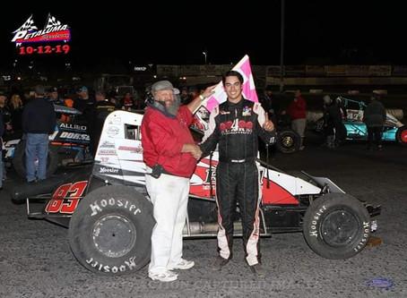 Austin Liggett Tops Adobe Cup at Petaluma Speedway for 9th Win of Season