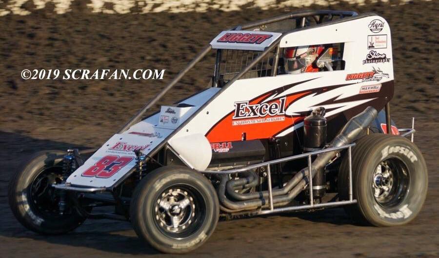 Austin Liggett Fourth in Midget at Bakersfield Speedway