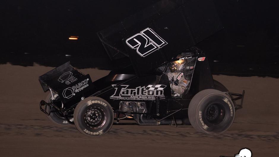 Carson Macedo 2nd and 6th with Tarlton Motorsports at Stockton Dirt Track