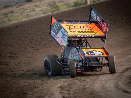 Ian Madsen Tallies Pair of 11th Place Finishes As World Of Outlaws Continue West
