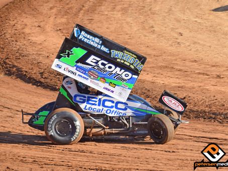 Mason Moore 12th at Stockton Dirt Track with the Sprint Car Challenge Tour