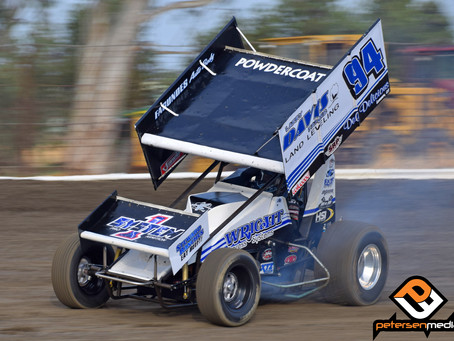Tiner Fights To Seventh at Keller Auto Speedway With Nose Wing Issues