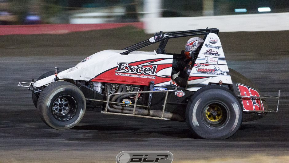 Austin Liggett Charges From 17th to 5th During Non Stop Feature at Santa Maria Speedway