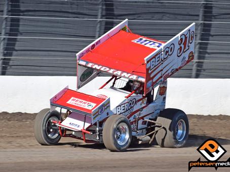 Justyn Cox Battles To Sixth at Calistoga Speedway