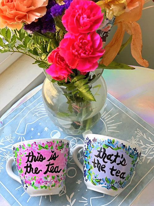 """""""This is the tea/That's the tea"""" Set"""