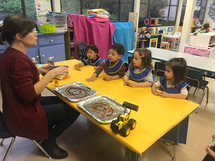 Mrs. Nancy and her Tiny Turtles class