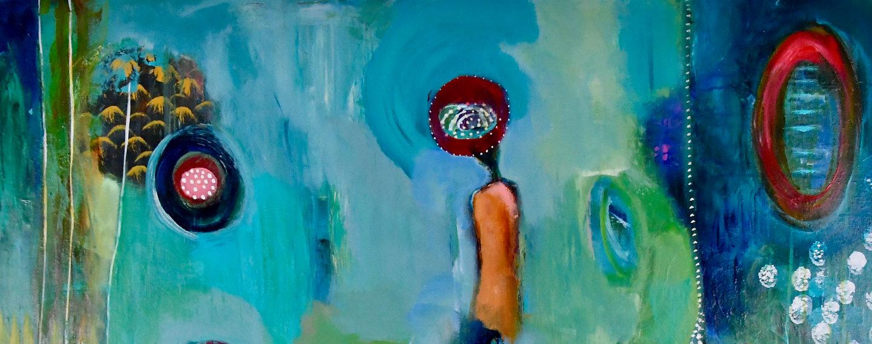 Art work by organic abstract artist, Monica Zunino Mel