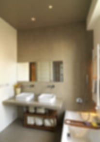 interiors shots of a modern bathroom in
