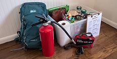 Emergency kit for natural disaster prepa
