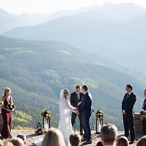 Vail Wedding Deck and Four Seasons