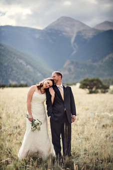 Teena and Jim Bridal portrait in the mountians