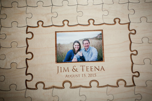 Teena and Jim Reception guest book