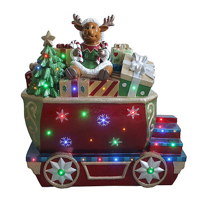 Reindeer On Train