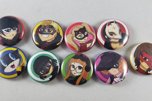 Persona 5 Button/Magnet Set