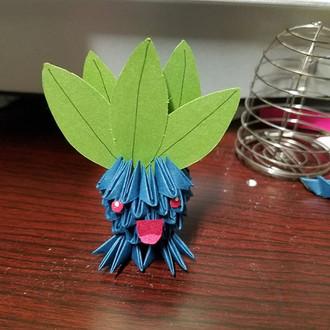 A small oddish _#pokemon #oddish #3dorigami #paper_#origami #art #instaart #instaartist