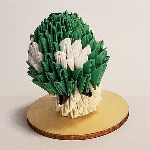 1UP and Mario Mushroom 3D Origami