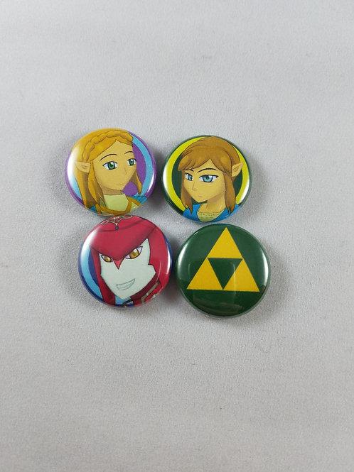 Legend of Zelda: BotW Buttons/Magnet Set