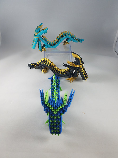 Small Dragons 3D Origami