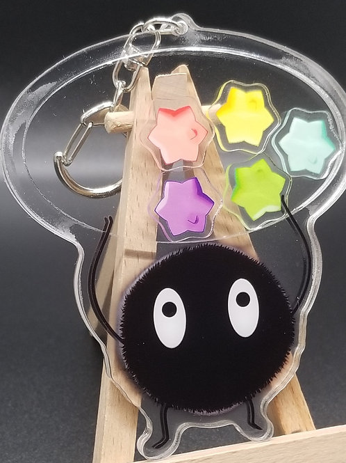Soot Sprite Acrylic Shaker Keychains (DEFECT)