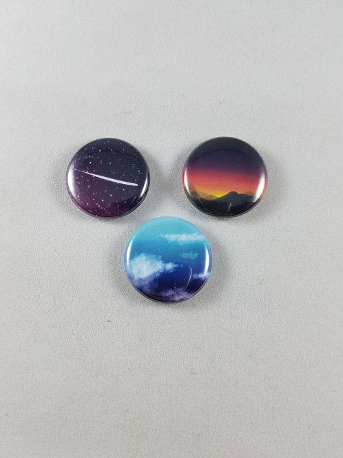 Sky Buttons/Magnet Set