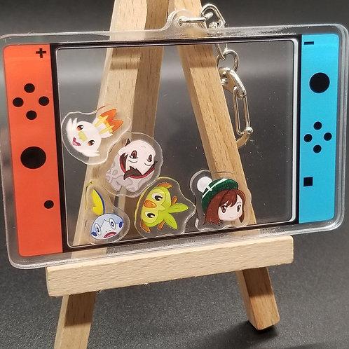 Pokemon Swish Acrylic Shaker Keychains (DEFECT)