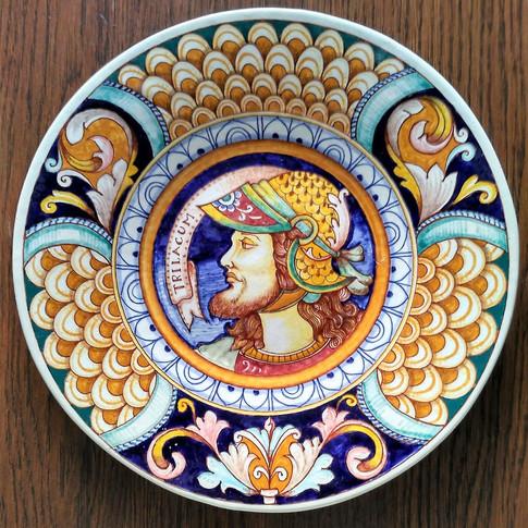 Medieval Warrior  Italian Ceramics plates 30cm