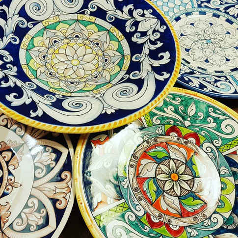 Italian Ceramic Hand Painted Made in ITALY