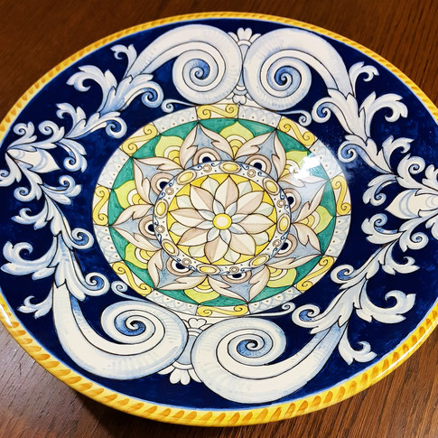 Italian Ceramic Serving Bowl Centerpieces Decorated 36cm
