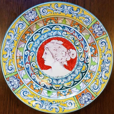 Omaggio alla Dea Diana Italian Ceramic Plate 39cm