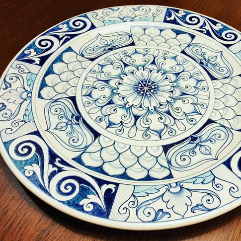 Italian Ceramic Plate Handmade 39cm