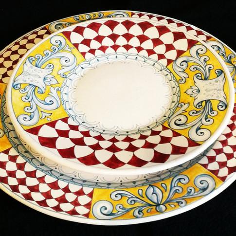 Italian Ceramics Plates set of 12 plates