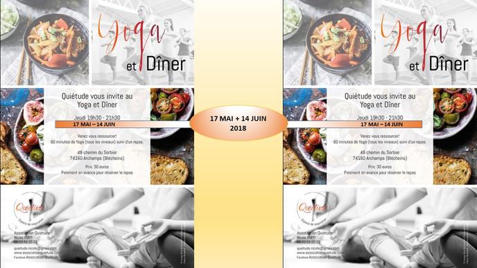 YOGA&DINER: MAI + JUIN 2018